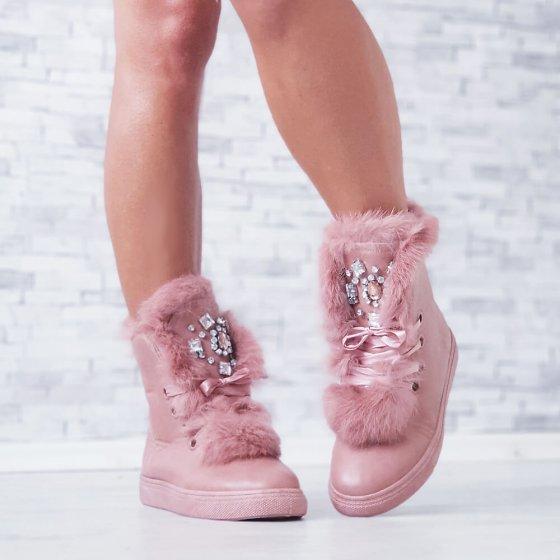 Čizme Fluffy roze