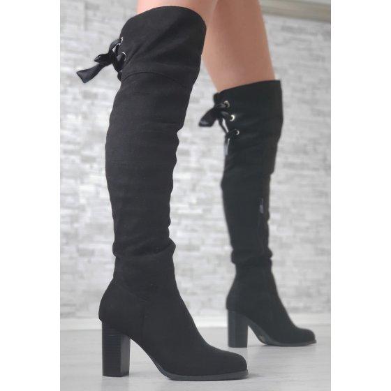 Visoke čizme Leloo crne