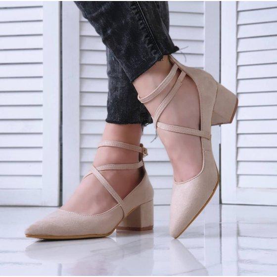 Cipele sa remenčićima beige