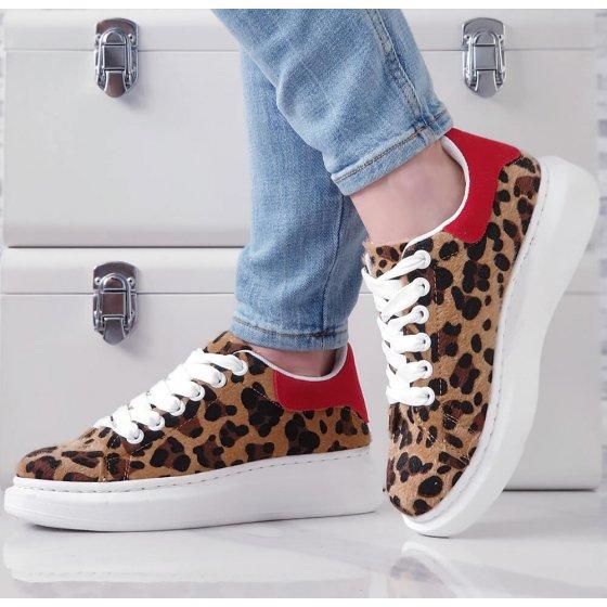 Tenisice Glam Q red leopard