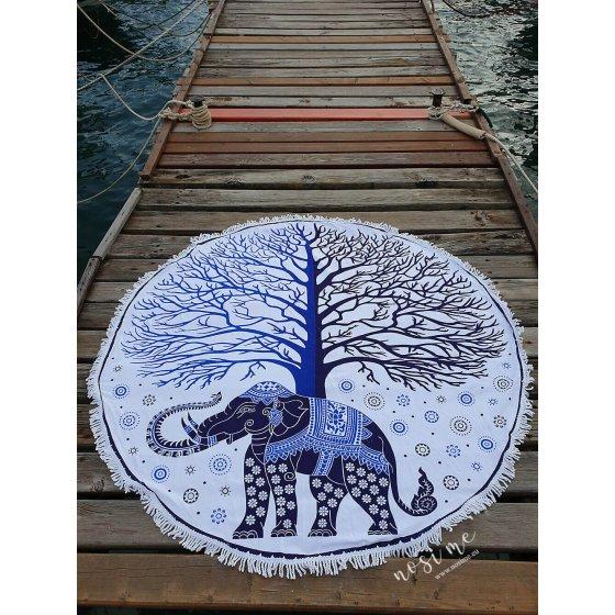 Ručnik za plažu Blue Elephant