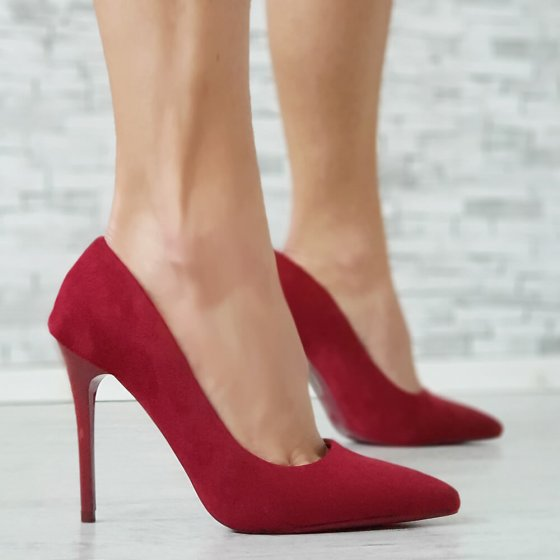 Cipele Yes bordo crvene