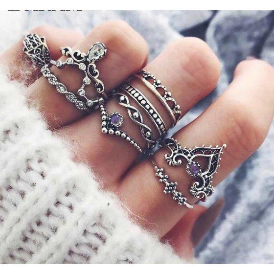 Set prstenova Hamsa