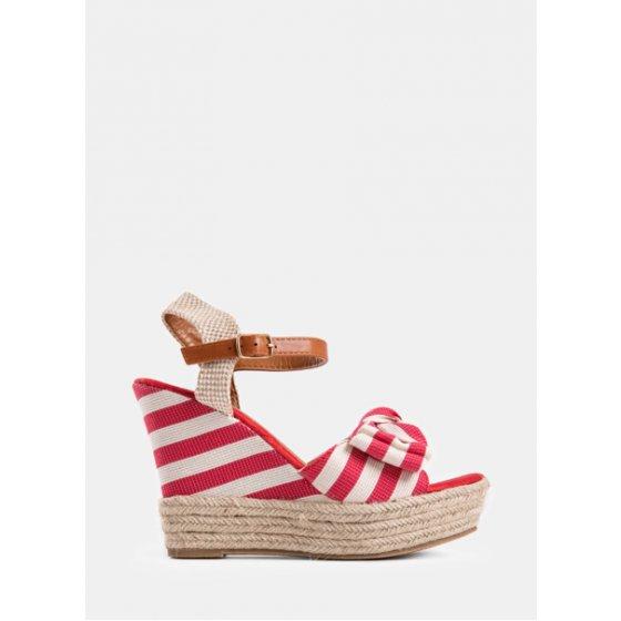 Sandale Summer crveno bijele prugaste