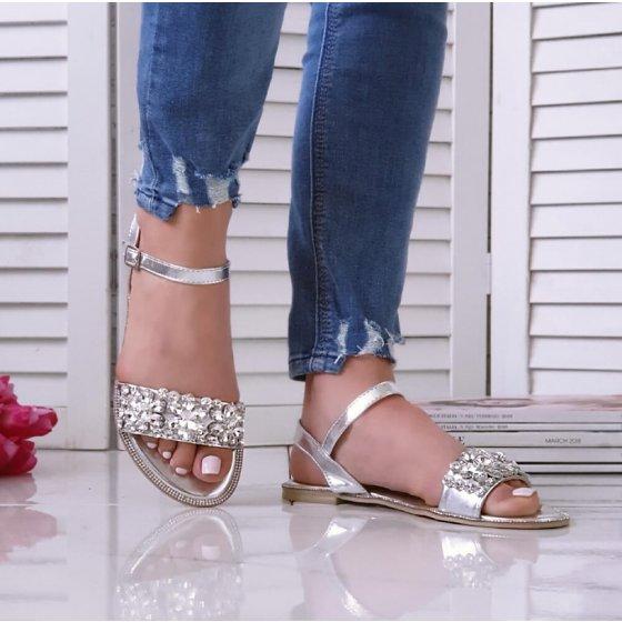 Sandale Grace srebrne