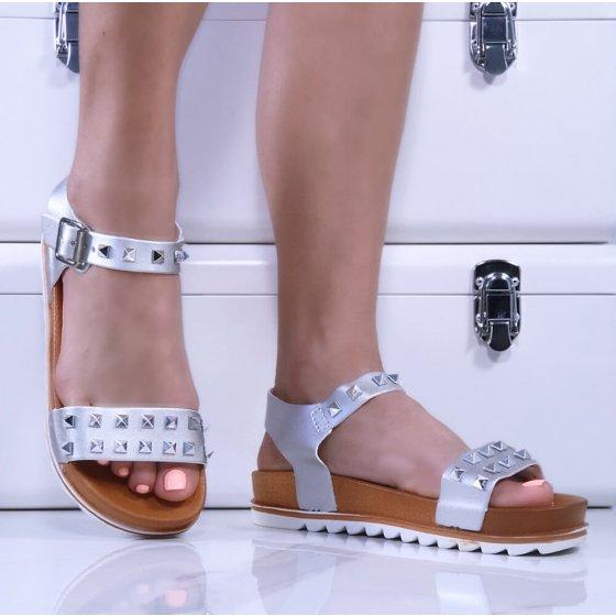 Sandale Roza srebrne