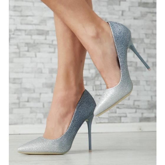 Cipele Woow plavo srebrne