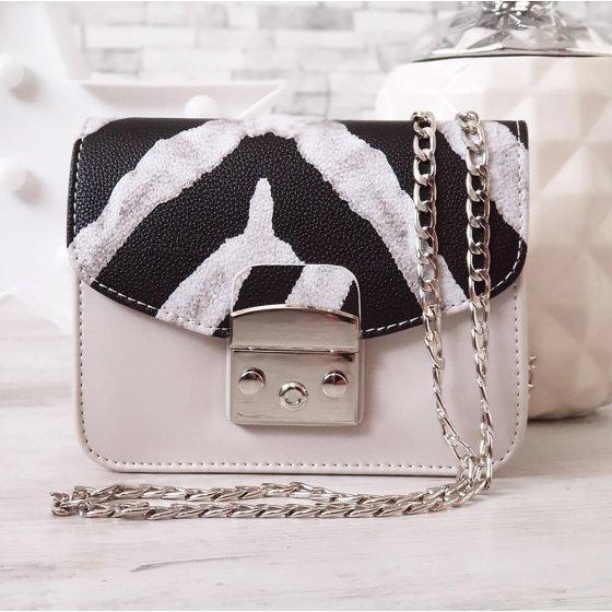 Torba Brick bijelo zebrasta