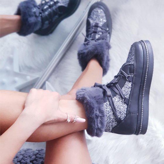Čizme Sparkle sive