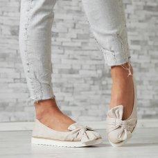 Cipele niske s mašnom beige