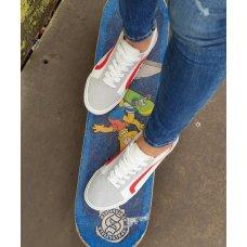 Tenisice Skate bijelo crvene