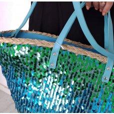 Ceker Sparkle zeleno plavi