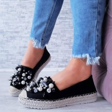 Espadrile Funky crne
