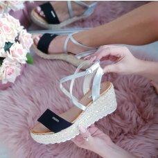 Sandale crno srebrne