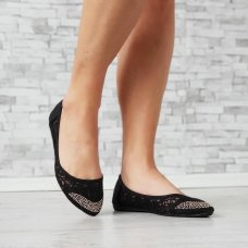 Balerinke čipkaste crne