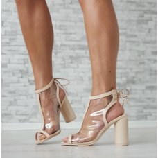 Sandale prozirne Glossy chic