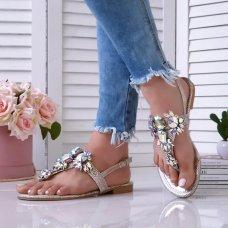 Sandale Paris srebrne