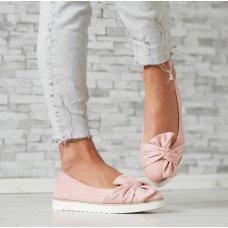 Cipele niske s mašnom roze