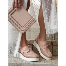 Cipele oksfordice Diana roze