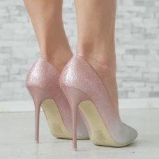 Cipele Woow rozo srebrne