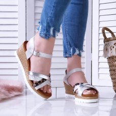 Sandale Bianca silver