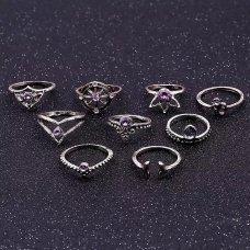 Set prstenova Purple love