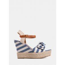 Sandale Summer plavo bijele prugaste
