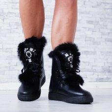 Čizme Fluffy crne