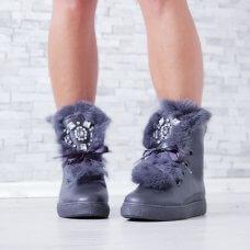 Čizmice Fluffy sive